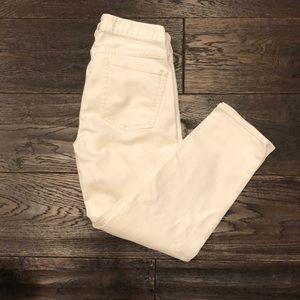 J Crew white matchstick crop white jeans